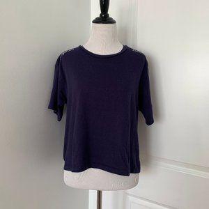 Asos Embroidered Shoulder Tshirt